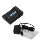 Mini 1080P SCART HDMI Video Audio skaalain Converter - Musta (US Tulpat)