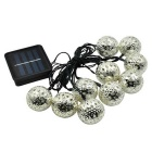 10 LED Warm White Solar Fairy Light String Morocco Ball Light for Christmas Decoration (3.35m)
