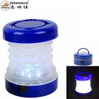 ZHISHUNJIA 5-LED 300lm 2-Mode Cool White Folding Outdoor Lantern Camping Light - Deep Blue (3*AAA)