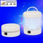 ZHISHUNJIA 5-LED 300lm 2-Mode blanc froid pliage extérieur lanterne camping lumière - blanc (3 * AAA)