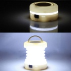 ZHISHUNJIA 5-LED 300lm 2-Mode Cold White Folding Outdoor Lantern Camping Light - White (3*AAA)