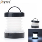 ZHISHUNJIA 5-LED 300lm 2-Mode Cool White Folding Outdoor Lantern Camping Light - Black (3*AAA)