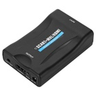 Mini 1080P SCART to HDMI Video Audio Scaler Converter - Black (EU Plug)