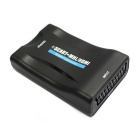 mini 1080P SCART a HDMI convertitore audio video scaler - nero