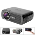 Fantaseal LP-S1 FHD 1080P Mini LED Projector w/ ATV, HDMI, VGA, USB 2.0, AV, SD - Black (US Plug)