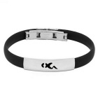 12 Zodiac Capricorn Titanium Steel Stress Relief Magnetic Bracelet Bangle - Black