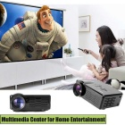 Fantaseal LP-M1 FHD 1080P Mini LED Projector w/ ATV, HDMI, VGA, USB 2.0, AV, SD - Black (US Plugs)