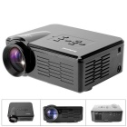Fantaseal LP-M1 FHD 1080P Mini LED Projector w/ ATV, HDMI, VGA, USB 2.0, AV, SD - Black (US Plug)