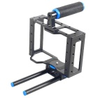 YELANGU C1 Aluminum DSLR-kamera Cage Kit støtte for Canon 5D Mark II / 7D / 60D 15mm - Sort + Blå