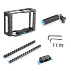 YELANGU C1 Aluminium DSLR Camera Cage Kit Support pour Canon 5D Mark II / 7D / 60D 15mm - Noir + Bleu