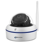 SunEyes SP-V702W 720P HD Waterproof Wireless Mini Dome IP Camera - White (UK Plug)