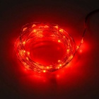 JIAWEN 5M Waterproof Flexible 3W 240lm Red Light 50-SMD 0603 LED Wire String Light - Silver (DC 12V)
