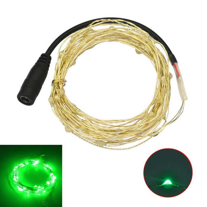 JIAWEN 5M Waterproof  Flexible 3W 240lm Green Light LED String Light - Silver (DC 12V)