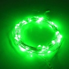Jiawen 5M Waterproof 3W flexível 240LM Luz verde Luz LED String - Silver (DC 12V)