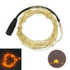 JIAWEN 5M Waterproof Flexible 3W 240lm 50-0603 SMD Yellow Light LED String Light - Silver (DC 12V)