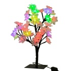 Jiawen 2.5W RGB Shining Flowers Tree LED Night Light Lamp - Black + White (AC 110~240V / EU Plug)