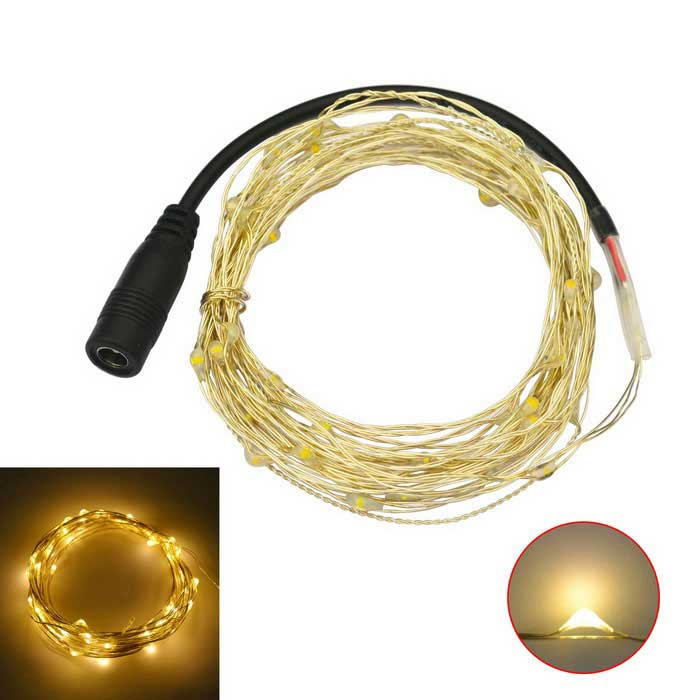 JIAWEN 5M Waterproof Flexible 3W Warm White 3200K 240lm 50-0603 SMD LED String Light (DC 12V)LED String<br>Form  ColorSilverColor BINWarm WhiteMaterialCopper wire + plasticQuantity1 DX.PCM.Model.AttributeModel.UnitPower3WRated VoltageDC 12 DX.PCM.Model.AttributeModel.UnitEmitter TypeOthers,0603 SMDTotal Emitters50Color Temperature3000-3200KWavelengthNGTheoretical Lumens240 DX.PCM.Model.AttributeModel.UnitActual Lumens240 DX.PCM.Model.AttributeModel.UnitPower AdapterOthers,Cable connectingPacking List1 x LED string light<br>