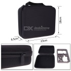 Professional Portable Anti-Shock Case Bag + Large Storage Pouch for GoPro Hero / SJ4000 - Black