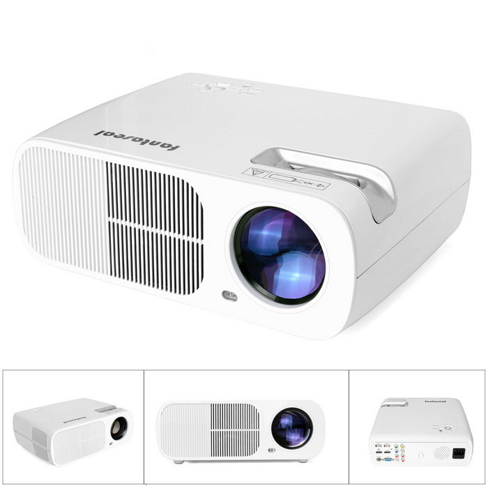 Fantaseal LP-S2 FHD 1080P Portable LED Projecteur avec HDMI, VGA, USB 2.0, AV, SD-Blanc (US Plugs)