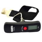 Jtron Green Backlight Electronic Handheld Hanging Luggage Scale - Black (50KG / 1*CR2032)