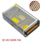 JIAWEN 240W AC 110V / 220V to DC 24V 10A Transformer Switching Power Supply - Silver