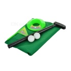 Tragbare Office Home Indoor Golf Putting-Trainings-Hilfe - Grün + Schwarz