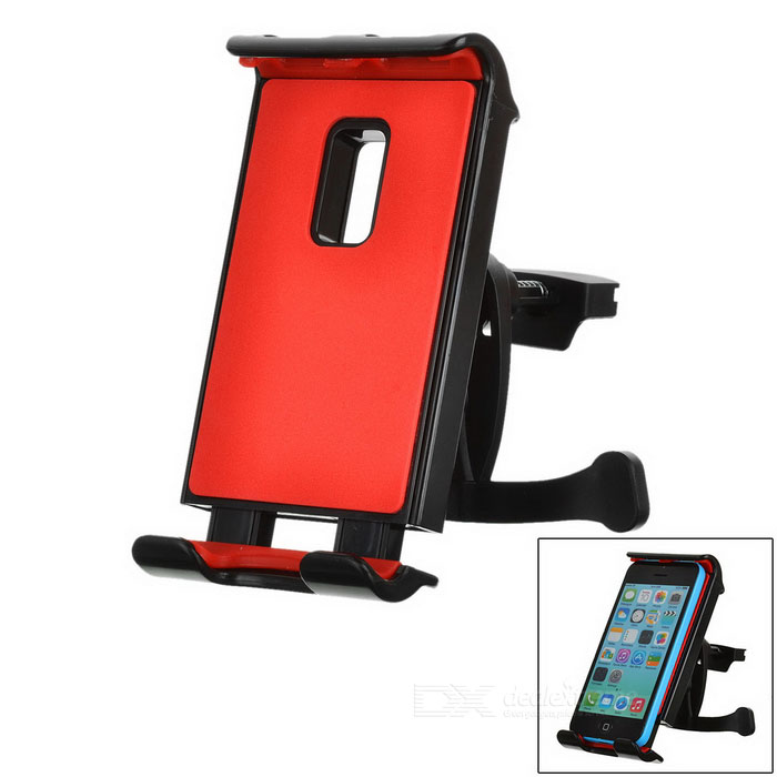 "Car Phone / Tablet Holder for 7"" / 8"" / 10"" GPS, IPAD, IPHONE 6S PLUS, Note 5 GPS - Black + Red"