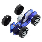 DIY Educational Assembled Solar-Powered Model Car Toy for Children / Kids - Blue + Black