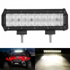 "9.5"" 90W Flood 6000K 7650lm 18-LED Work Light Bar for Dome Truck Jeep Car Lamp Off Road SUV - Black"