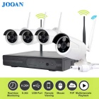 JOOAN TC-734 720P IP Cameras 4CH NVR Wireless CCTV Surveillance System