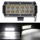 36W 12-LED 3060lm 6000K Flood Work Light Bar for Offroad SUV ATV Lamp - Black (DC 10~30V)
