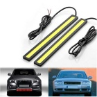 YouOKLight DIY Waterproof 6W COB LED Daytime Running Light para carro - preto + amarelo (2PCS)