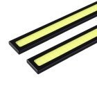 YouOKLight DIY Waterproof 6W COB LED Daytime Running Light for Car - Black + Yellow (2PCS)