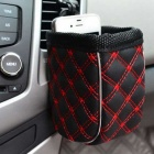 ZIQIAO CZ-06 Multifunctional Car Storage Bag - Black + Red