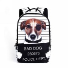 Unisex Animal Dog Pattern Shoulders Bag Backpack - White + Brown + Multi-Colored (22L)