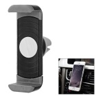 Universal 360' Rotatable Car Air Vent Mount Phone Holder for IPHONE / Samsung + More - Black + Grey