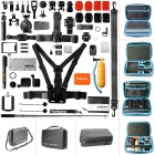 "Fantaseal AIO-1350P 50-in-1 Camera Accessories Kit w/ 13"" Waterproof Case for GoPro - Black + Blue"