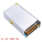 JIAWEN 480W AC 110V / 220V to DC 24V 20A Transformer Switching Power Supply - Silver