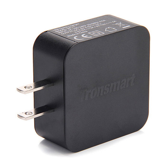 Tronsmart WC1T Quick Charge 3.0 USB Fast Wall Charger - Black US Plugss