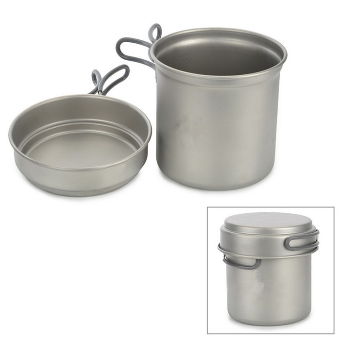 KP6013 Titanium Pot w/ Plate Set - Silvery Grey (1.2L)Form ColorSilver GreyModelKP6013Quantity1 DX.PCM.Model.AttributeModel.UnitMaterialTitaniumBest UseFamily &amp; car camping,Camping,Mountaineering,Travel,CyclingStove TypePanTypePots &amp; PansPacking List1 x 0.4L plate1 x 1.2L pan1 x Pouch<br>