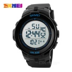 SKMEI 1127 50m Waterproof Outdoor Sports Watch - Black + Dark Blue (1*CR2025)