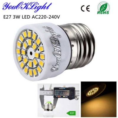 YouOKLight E27 3W LED Spotlight Bulb Warm White Light 3000K 280lm 24-SMD 2835 - White (AC 220~240V)