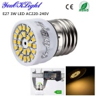 YouOKLight E27 3W LED Spotlight Bulb Warm White Light 3000K 280lm 24-SMD 2835 - Branco (AC 220 ~ 240V)