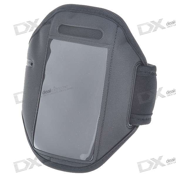 Neoprene Sport Armband for Iphone 4 - Black