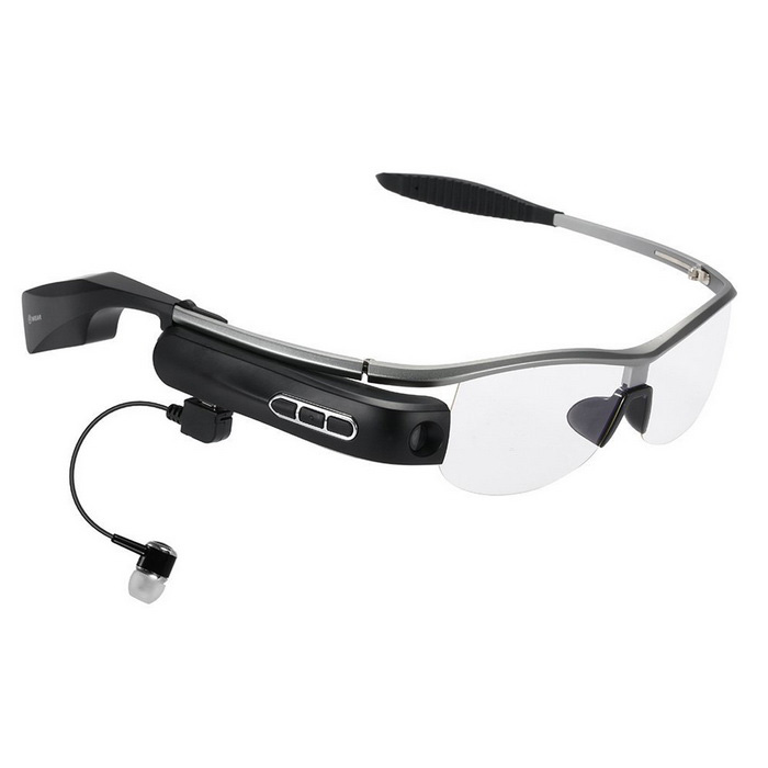 WEAR Smart Glasses Polarized Sunglasses w/ BT / Camera - Grey