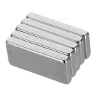 Rectangular Strong 20x10x3mm NdFeB Magnet - Silver (5PCS)