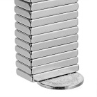 Rectangular Strong 20x10x3mm NdFeB Magnet - Silver (20PCS)