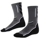 CAXA Men's Lengthened Quick Dry Antibacterial Socks for Running Skiing - Black + White + Grey (Pair)