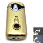 Novel Gourd Icon Twin Flame Fire Maker Butane Jet Lighter - Golden