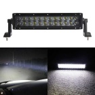 120W 24-LED White 6000K 10200lm Off-Road UTV Car Lamp Spotlight Work Light Bar w/ Lens - Black